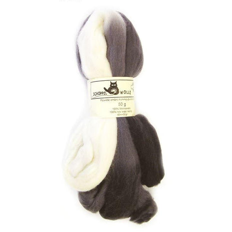 Artfelt Multi Colored Merino Standard Rovings Stormy Skies 1508 - 17