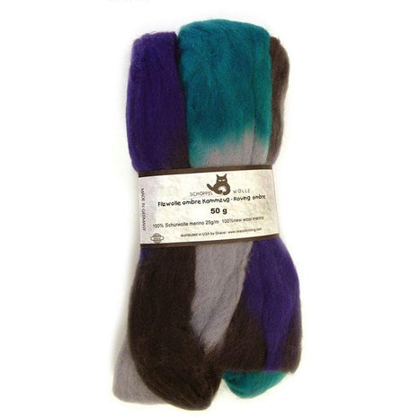Artfelt Multi Colored Merino Standard Rovings Submarine 1511 - 2