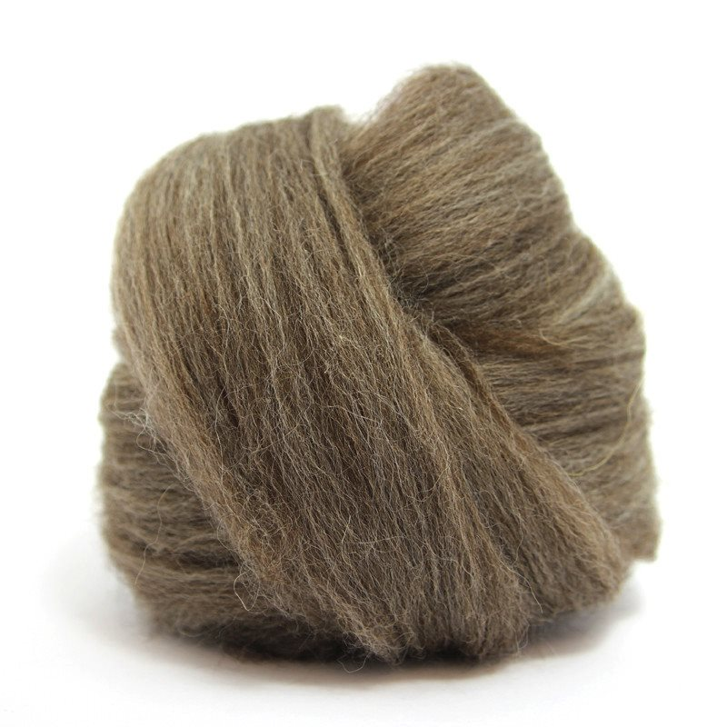 Paradise Fibers Blue Faced Leicester Roving 4oz / Brown - 2