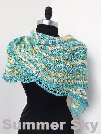 Paradise Fibers Kits Artyarns Taj Shawl Kit  - 10
