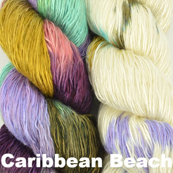 Artyarns Taj Shawl Kit Caribbean Beach - 5