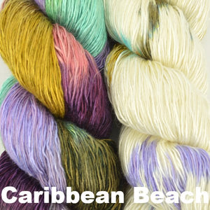Paradise Fibers Kits Artyarns Taj Shawl Kit Caribbean Beach - 5