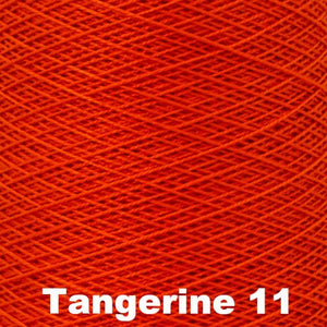 3/2 Mercerized Perle Cotton-Weaving Cones-Tangerine 11-