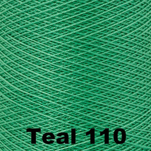 10/2 Perle Cotton 1lb Cones-Weaving Cones-Teal 110-