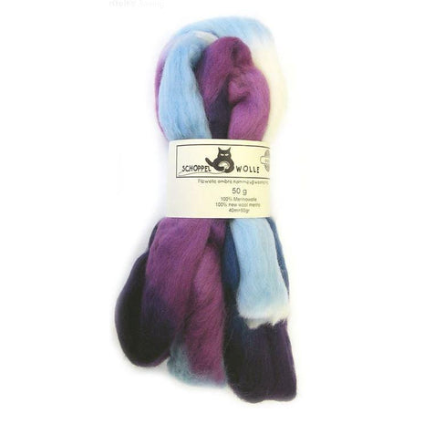 Artfelt Multi Colored Merino Standard Rovings The Blues 1699 - 5