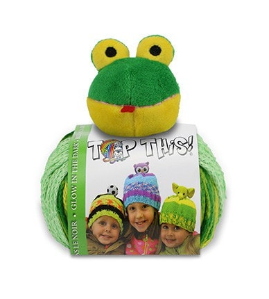 Paradise Fibers Kits Top This! Hat Kit Frog - 14