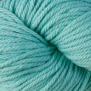 Berroco Vintage Chunky weight yarn in the color Aquae 6125, a light turquoise blue.