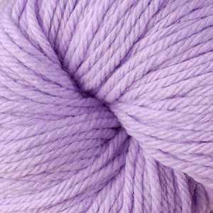 Berroco Vintage Chunky weight yarn in the color Aster 6114, a light purple.