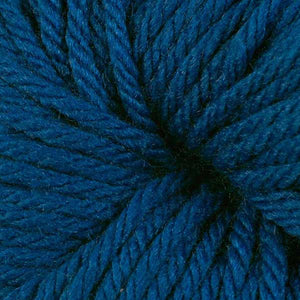 Berroco Vintage Chunky weight yarn in the color Azure 6146, a classic medium blue.
