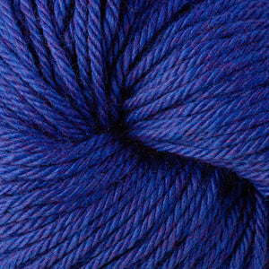 Berroco Vintage Chunky weight yarn in the color Blue Moon 61191, a vibrant heathered blue.