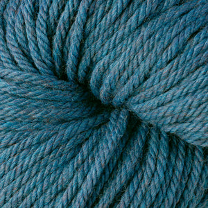 Berroco Vintage Chunky weight yarn in the color Cerulean 61190, a heathered blue.