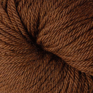 Berroco Vintage Chunky weight yarn in the color Chocolate 6179, a warm brown.