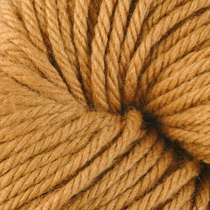 Berroco Vintage Chunky weight yarn in the color Cork 6144, a warm golden brown.