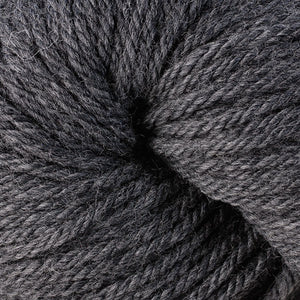 Berroco Vintage Chunky weight yarn in the color Cracked Pepper 6107, a dark medium grey.