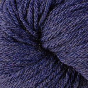 Berroco Vintage Chunky weight yarn in the color Dungaree 6187, a rich heathered dark blue.