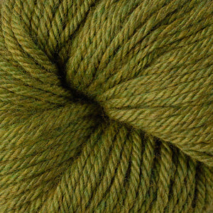 Berroco Vintage Chunky weight yarn in the color Fennel 6175, a yellowish green.