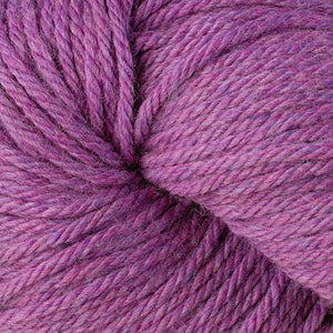 Berroco Vintage Chunky weight yarn in the color Fuchsia 61176, a pink & purple heather.