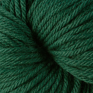 Berroco Vintage Chunky weight yarn in the color Mistletoe 6152, a Christmas green.