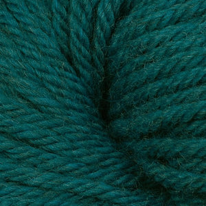 Berroco Vintage Chunky weight yarn in the color Neptune 6197, an ocean green-blue.