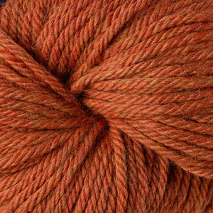 Berroco Vintage Chunky weight yarn in the color Pumpkin 6176, a heathered orange.