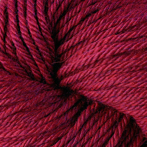 Berroco Vintage Chunky weight yarn in the color Ruby 61181, a rich heathered red.