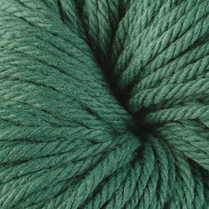 Berroco Vintage Chunky weight yarn in the color Scotch Pine 6138, a forest green.