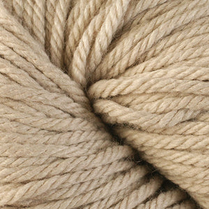Berroco Vintage Chunky weight yarn in the color Stone 6108, a light tan.