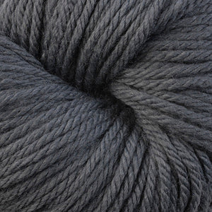 Berroco Vintage Chunky weight yarn in the color Storm 6109, a cool toned medium grey.