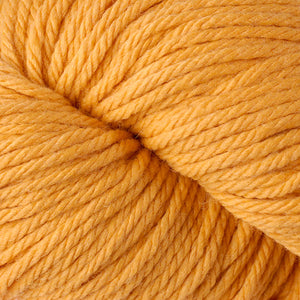 Berroco Vintage Chunky weight yarn in the color Sunny 6121, a warm yellow.