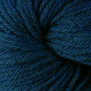 Berroco Vintage Chunky weight yarn in the color Tide Pool 6185, a dark heather with greens & blues.