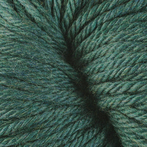 Berroco Vintage Chunky weight yarn in the color Yukon Green 6193, a dark forest green.