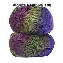 Crystal Palace Mini Mochi Yarn Violets Rainbow 103 - 26