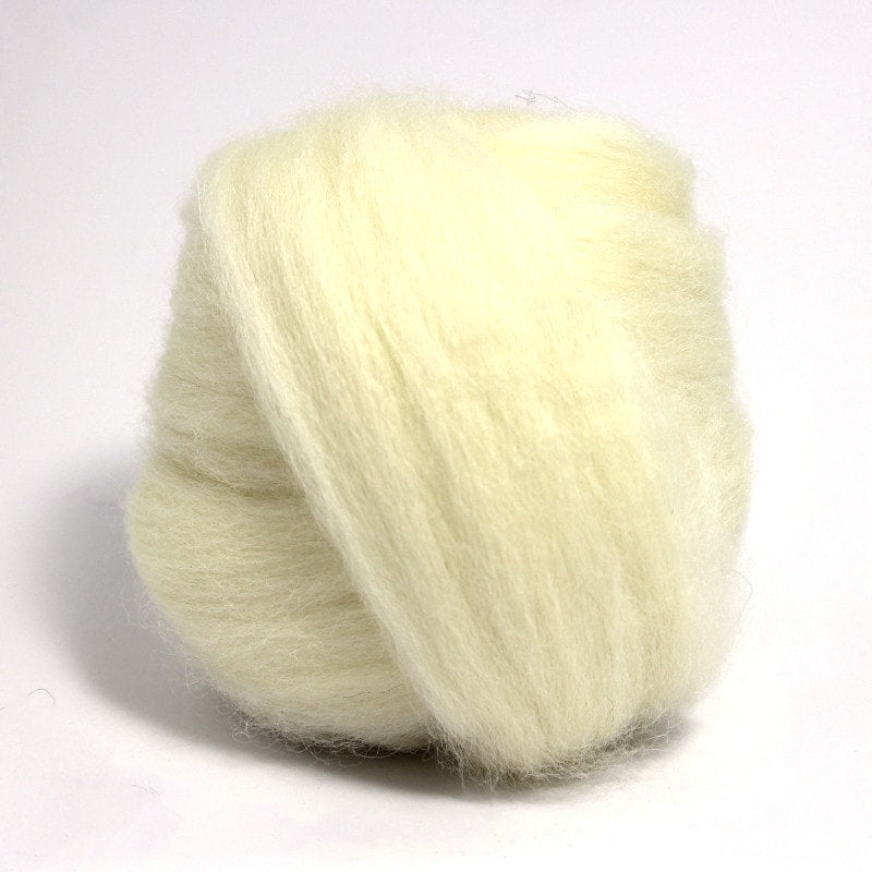 Paradise Fibers Finn Wool Tops (4 oz bag) White - 1