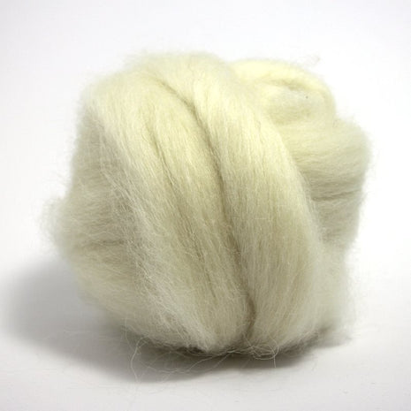 Paradise Fibers Icelandic Wool Roving 4oz / White - 1
