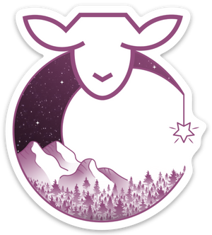 Paradise Fibers Sheep Stickers-Stickers-Wildeweness-