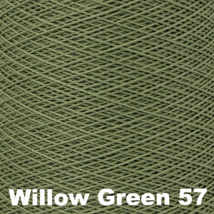 3/2 Mercerized Perle Cotton-Weaving Cones-Willow Green 57-