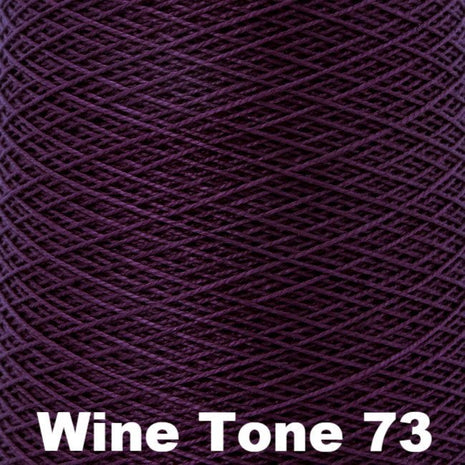 10/2 Perle Cotton 1lb Cones Wine Tone 73 - 95