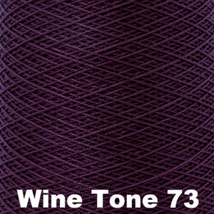 3/2 Mercerized Perle Cotton-Weaving Cones-Wine Tone 73-