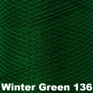 3/2 Mercerized Perle Cotton-Weaving Cones-Winter Green 136-