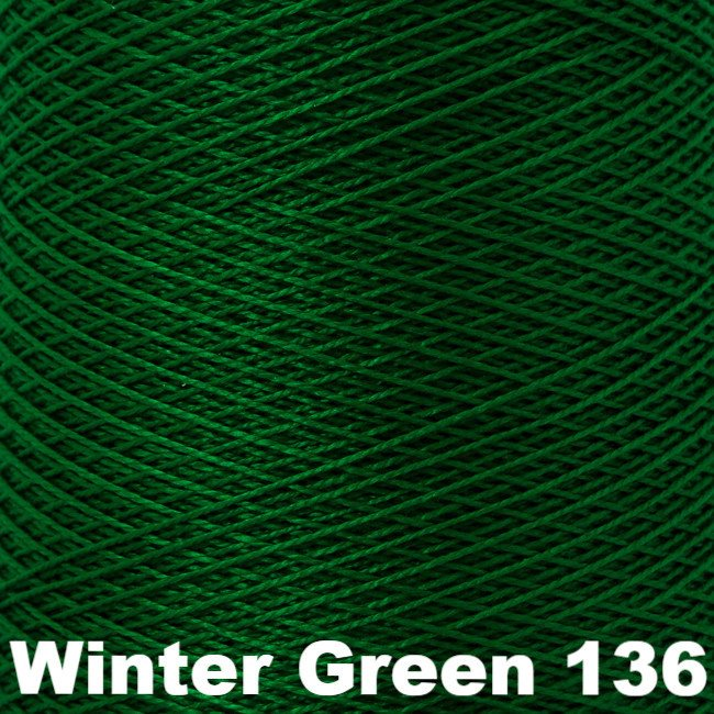 5/2 Perle Cotton 1lb Cones Winter Green 136 - 59