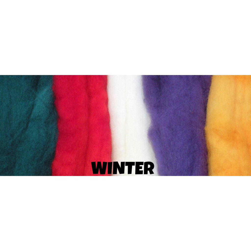 Ferndale Fiber Needle Felting Wool Multi Color Packs Winter - 9
