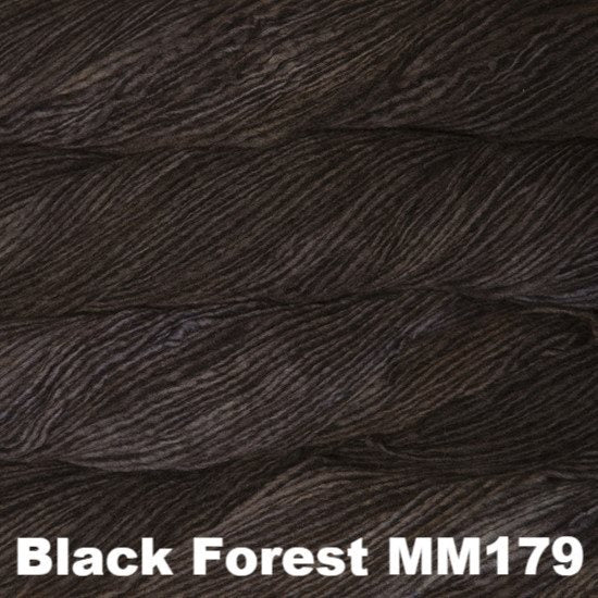 Malabrigo Worsted Yarn Semi-Solids Black Forest MM179 - 49