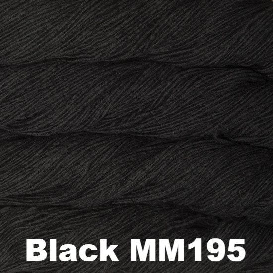 Malabrigo Worsted Yarn Semi-Solids Black MM195 - 94