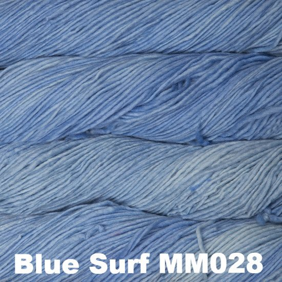 Malabrigo Worsted Yarn Semi-Solids Blue Surf MM028 - 51