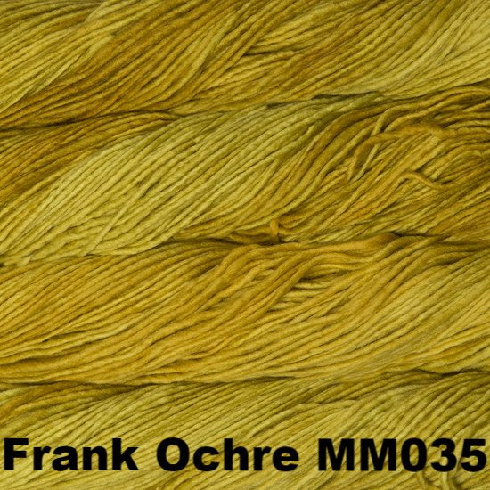Malabrigo Worsted Yarn Semi-Solids Frank Ochre MM035 - 33