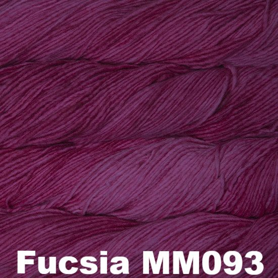 Malabrigo Worsted Yarn Semi-Solids Fucsia MM093 - 17