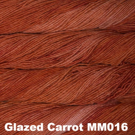 Malabrigo Worsted Yarn Semi-Solids Glazed Carrot MM016 - 12