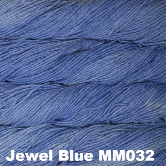 Malabrigo Worsted Yarn Semi-Solids Jewel Blue MM032 - 52