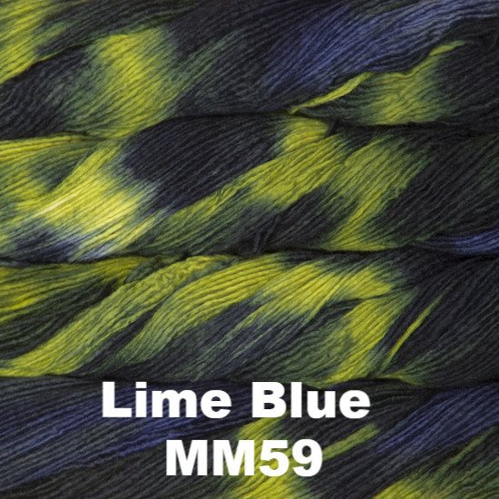 Malabrigo Worsted Yarn Variegated Lime Blue MM059 - 9