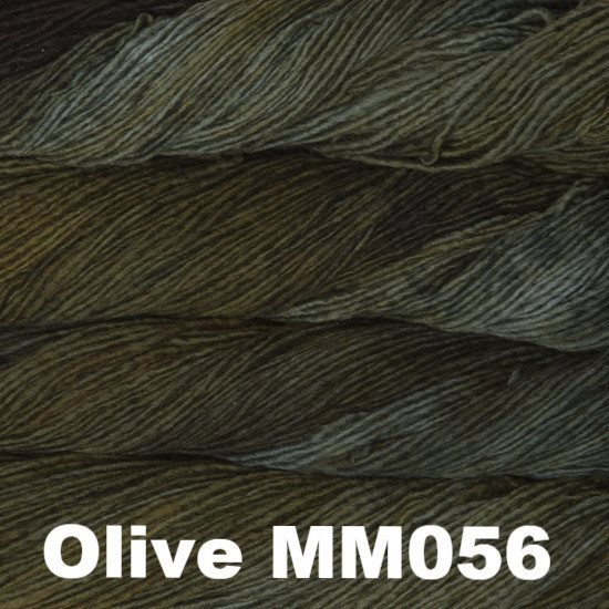 Malabrigo Worsted Yarn Semi-Solids Olive MM056 - 47